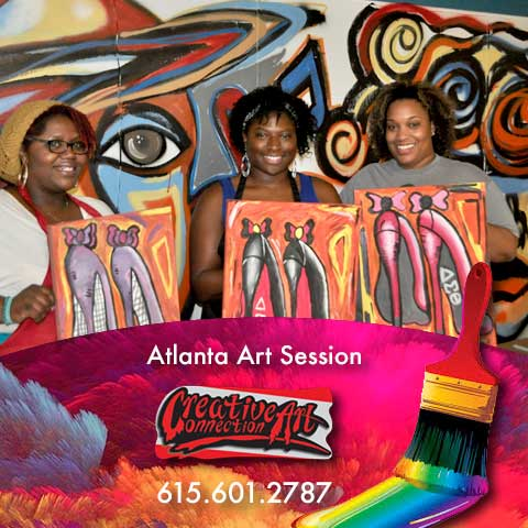 Atlanta Art Funraisers - We Will Host Your Event - Art Classes- Team Building Event