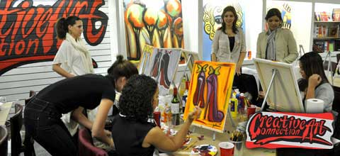Group Art Artist Classes Latin Womens Organization - Team Building